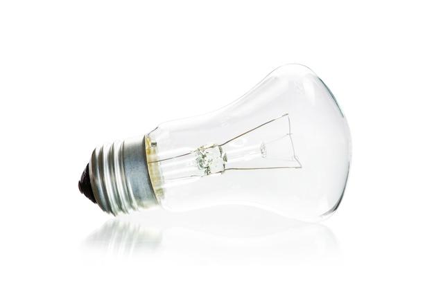 Ampoule isolé sur blanc