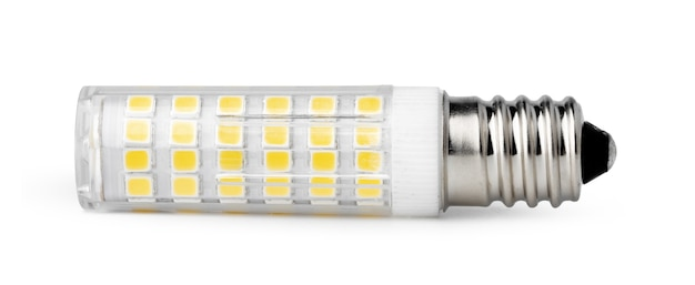 Une ampoule isolé sur fond blanc