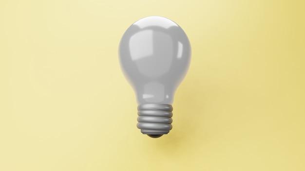 Ampoule de lampe rougeoyante moderne rendu 3d