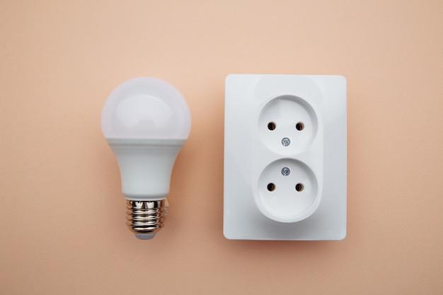 Ampoule led et prise de courant