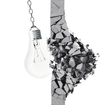 Ampoule, mur de démolition smithereens