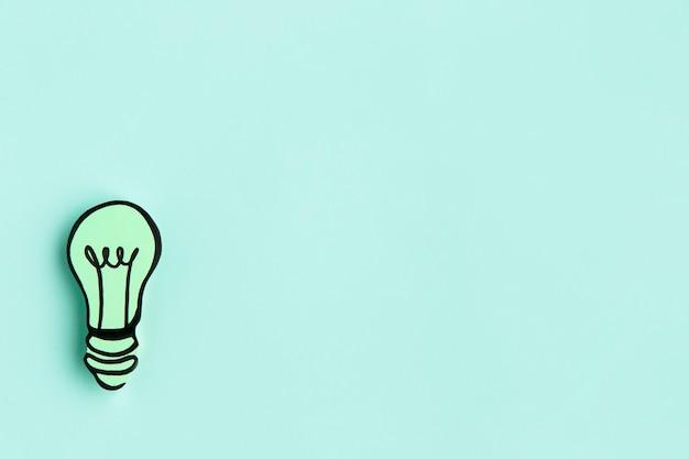 Ampoule en papier avec copie-espace