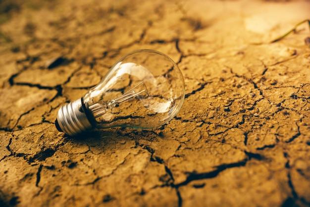 Ampoule sur sol sec.