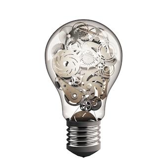 Ampoule avec système d'engrenages mécaniques