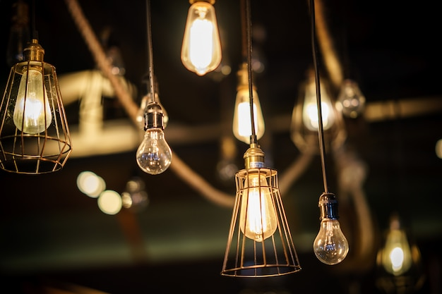 Ampoules décoratives de style antique edison.
