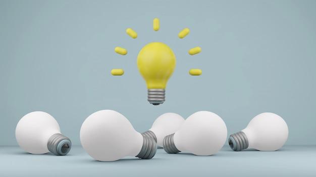 Ampoules modernes pour concept d'idée