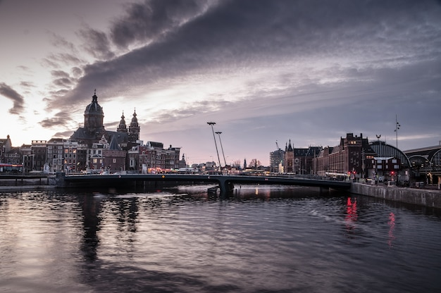 Amsterdam land scape, pays-bas