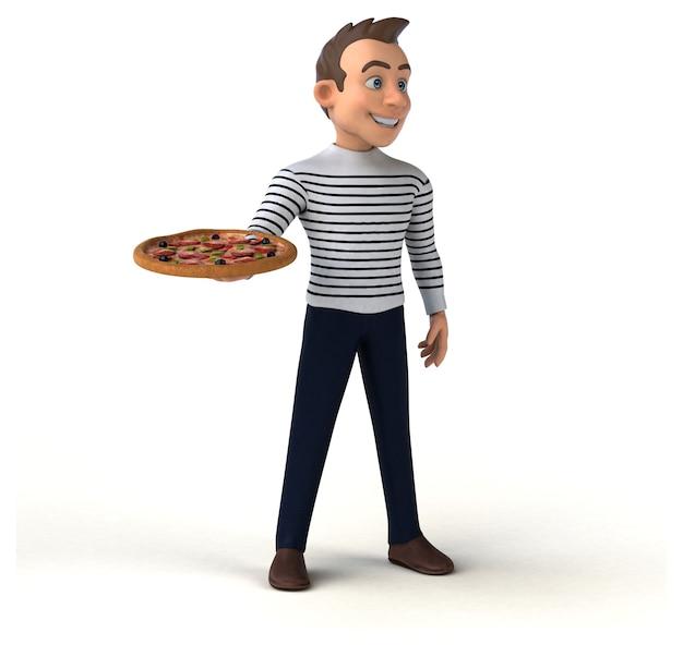 Amusant personnage décontracté de dessin animé 3d
