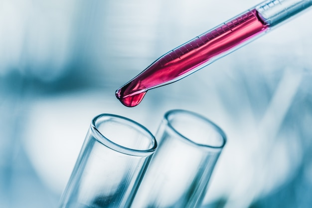 Analyse d'acide bécher biologie biotechnologie biotechnologie bleu