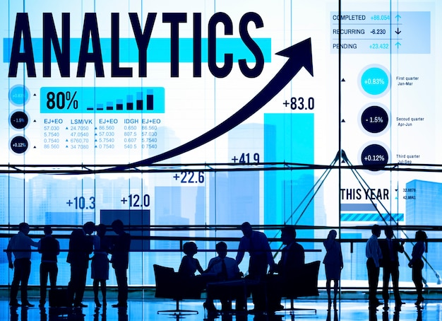 Analyse analytique données statistiques technologie information concept