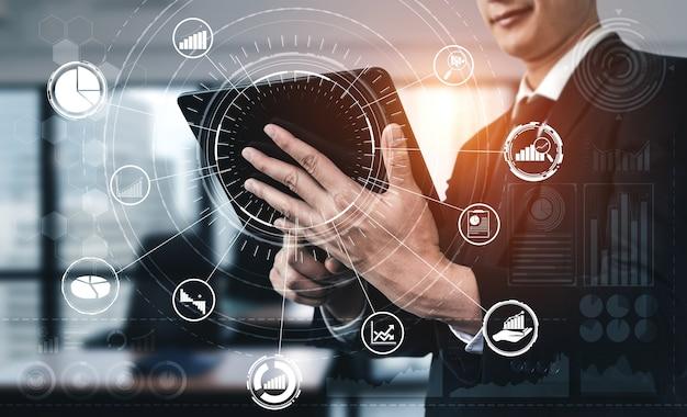 Analyse des données pour les entreprises et les finances concept
