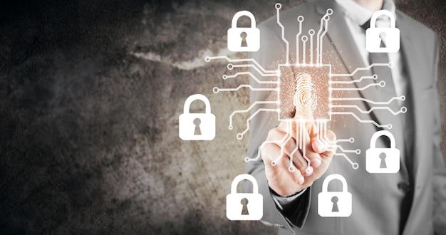 L'analyse D'empreintes Digitales Fournit Un Accès Sécurisé Avec Identification Biométrique Photo Premium