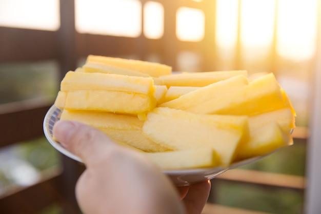 Ananas core bon aliment et haute teneur en broméline nutrition et fibres pour l'alimentation