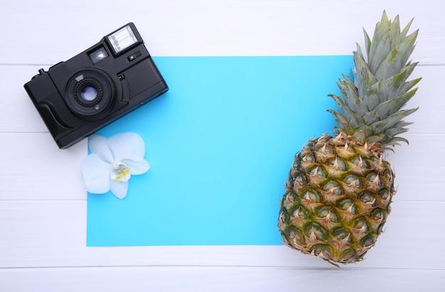 Ananas mûr avec caméra