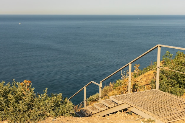 Anapa, fédération de russie escaliers menant à la mer
