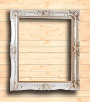 Ancien cadre photo en bois rutic vintage