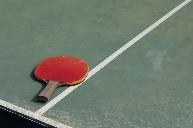 Ancien équipement pour le tennis de table