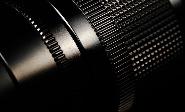 Ancien marquage de l'objectif close up l'objectif noir est en métal faible profondeur de champ