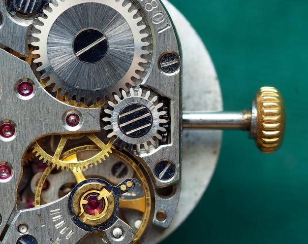 Ancien mécanisme d'horloge