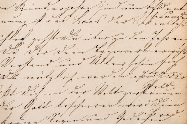 Ancien texte manuscrit abstrait non défini. fond de texture de papier vintage grunge