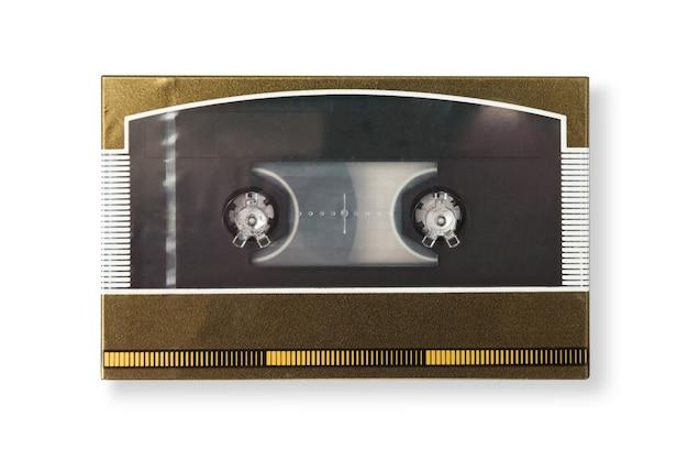 Ancienne cassette à l'état neuf en boîte avec ombre isolé sur fond blanc