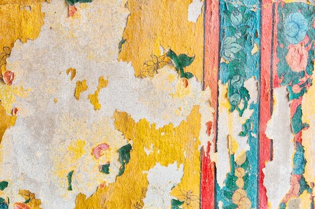 Ancienne fresque vintage sur un mur en plâtre. fond en plâtre.