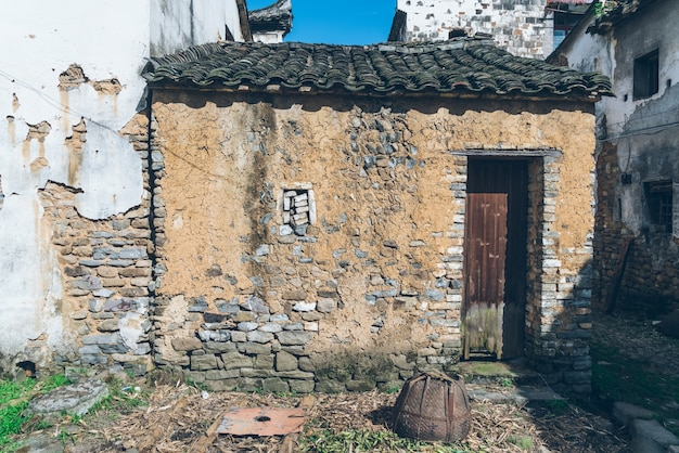 Une ancienne maison chinoise démodée; rustique