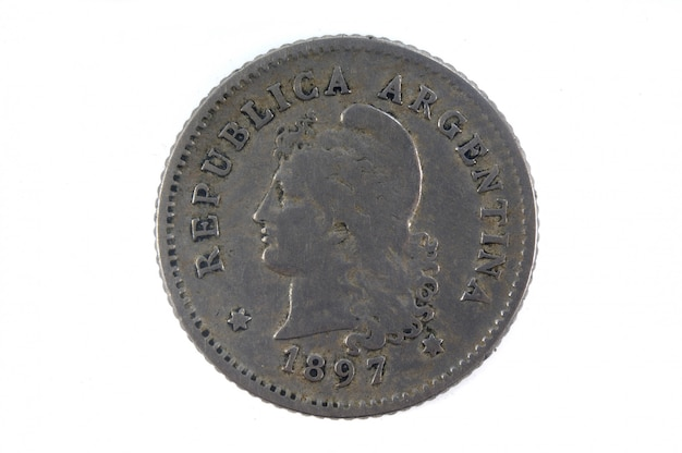 Ancienne monnaie argentine 10 centavos, 1897