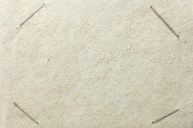 Ancienne page d'album vintage avec coins pour photo. craft fond de papier beige avec texture.