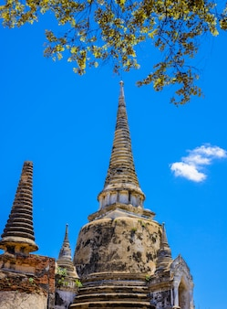 Ancienne pagode à wat phrasisanpetch (phra si sanphet).