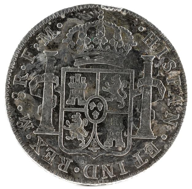 Ancienne pièce d'argent espagnole du roi carlos iii.