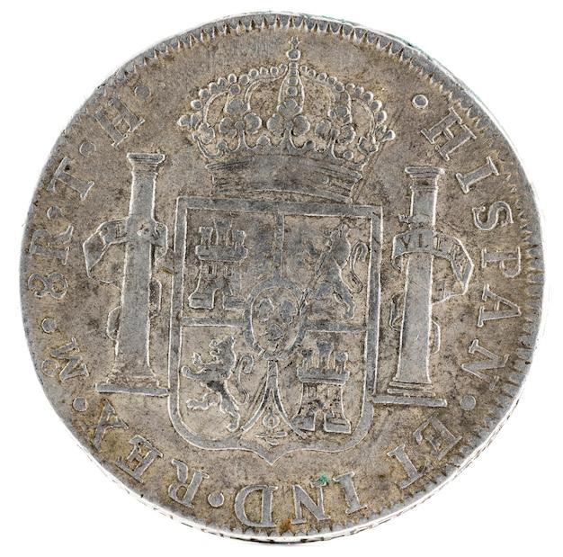 Ancienne pièce d'argent espagnole du roi carlos iv.