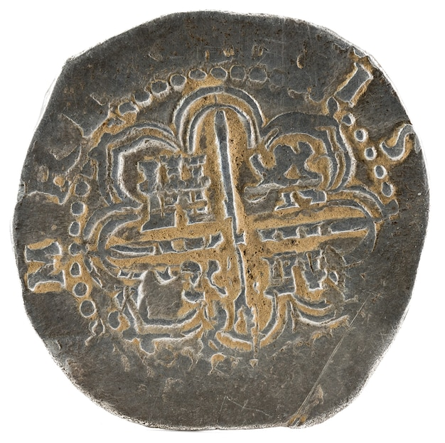 Ancienne pièce d'argent espagnole du roi felipe ii.
