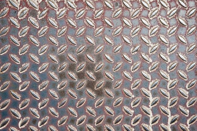 Ancienne plaque de diamant en métal