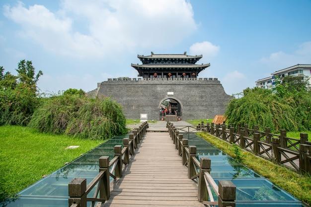 Ancienne rue de la ville de yangzhou, chine