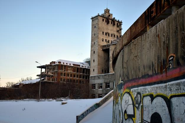 Ancienne usine désaffectée. nijni novgorod