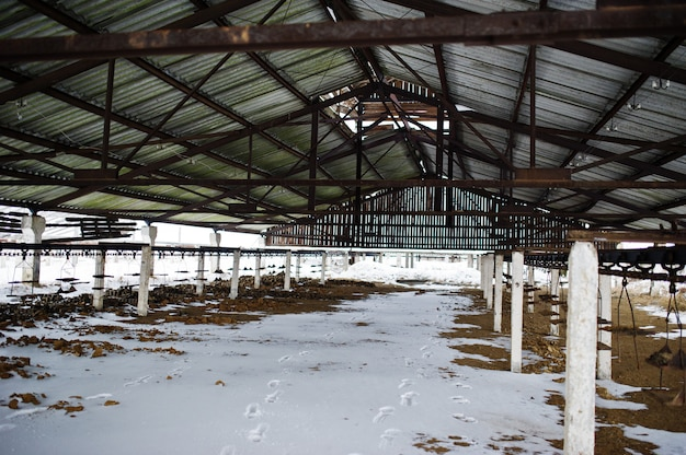 Ancienne usine soviétique pour la production de briques.