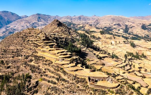 Ancienne ville inca de machu pitumarca au pérou