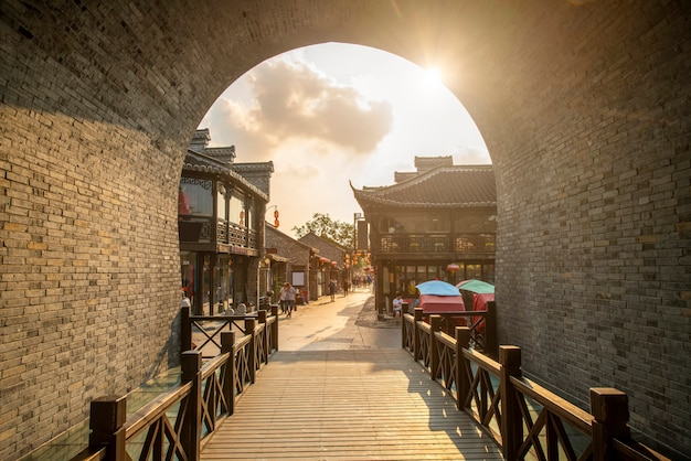 Ancienne ville, vieille rue de dongguan, yangzhou, chine