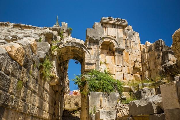 Anciennes ruines lyriques de myra à turkey demre