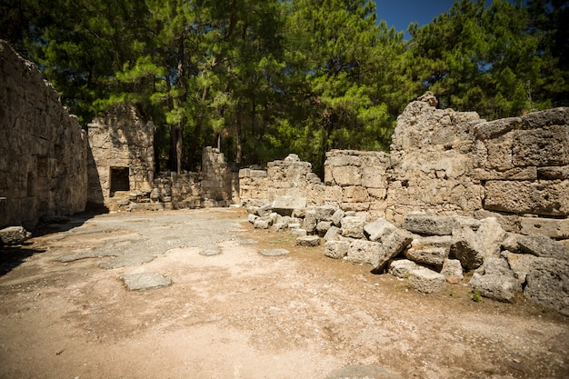 Anciennes ruines de phaselis.