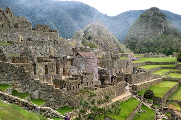 Anciennes structures incas du machu picchu