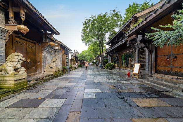 Anciens bâtiments à kuan alley et zhai alley, chengdu, sichuan
