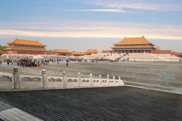 Anciens palais royaux de la cité interdite à beijing, chine.