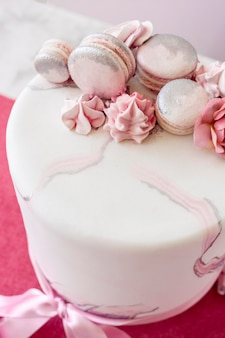Angle élevé du concept de gâteau d'anniversaire