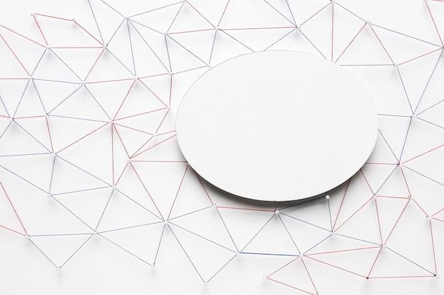 Angle élevé du réseau de communication internet