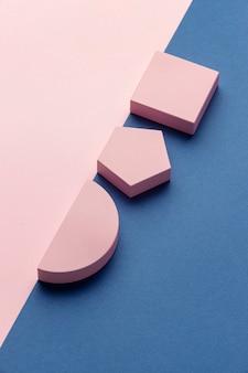 Angle élevé de formes géométriques