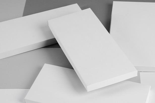 Angle élevé de nombreux emballages de barres de chocolat