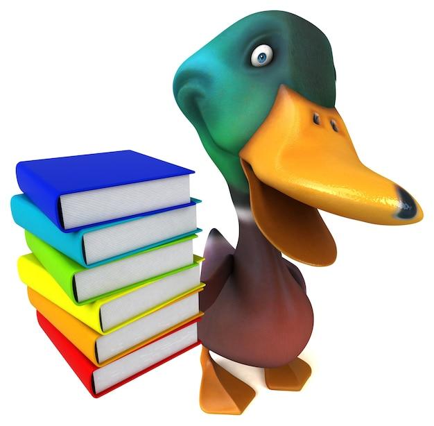 Animation amusante de canard