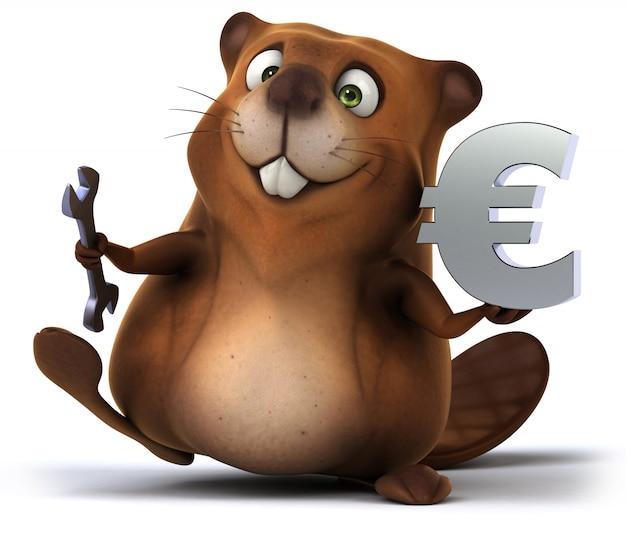 Animation amusante de castor